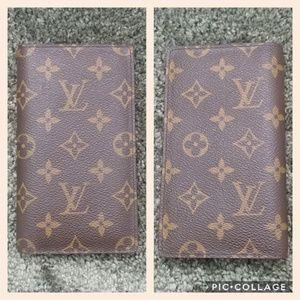 Authentic Louis Vuitton Monogram Checkbook Wallet